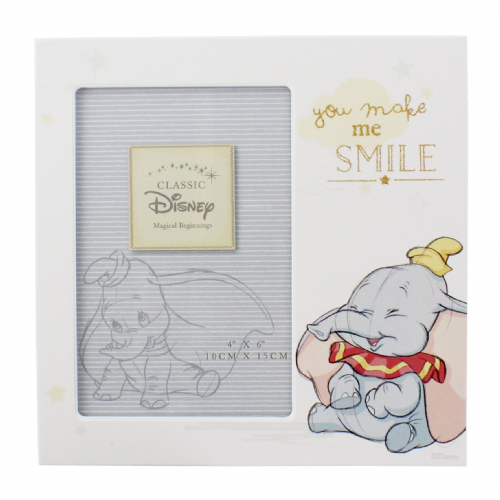 Disney Baby Dumbo Photo Frame 'You Make Me Smile' Magical Beginnings Disney Dumbo Gift
